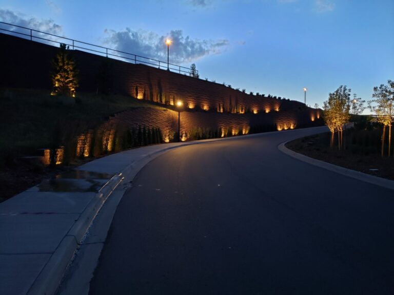 Lighted road